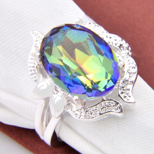 Promotion Trendy Family Gift Fire Mystic Crystal Silver Plated