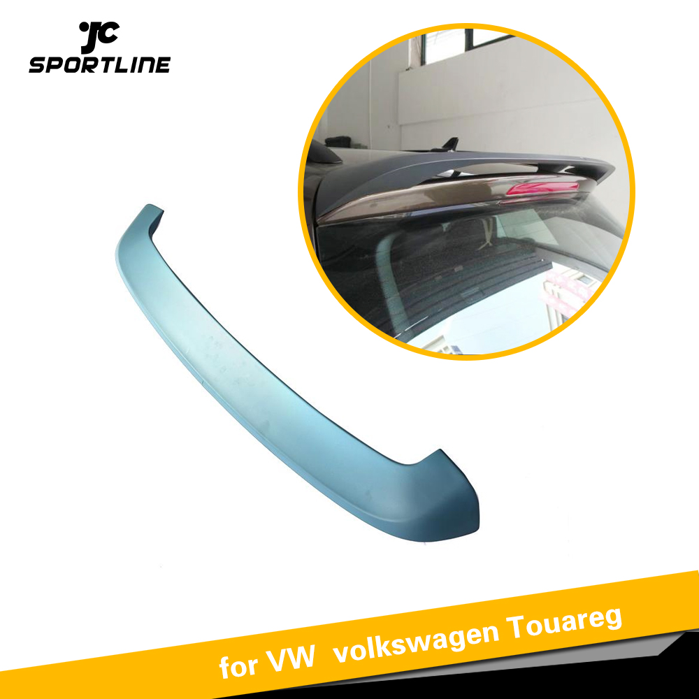Case for VW Volkswagen Touareg 2011   2017 Car Styling ABS Matte Grey Rear Trunk Roof Spoiler Wing Lip|Spoilers & Wings| |  - title=