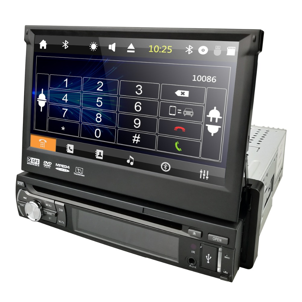 Single 1 Din 7Universal Touch screen Car DVD Player With GPS Navi Auto radio Stereo Car Audio DTV Bluetooth USB SD FREE 8G MAPSSingle 1 Din 7Universal Touch screen Car DVD Player With GPS Navi Auto radio Stereo Car Audio DTV Bluetooth USB SD FREE 8G MAPS