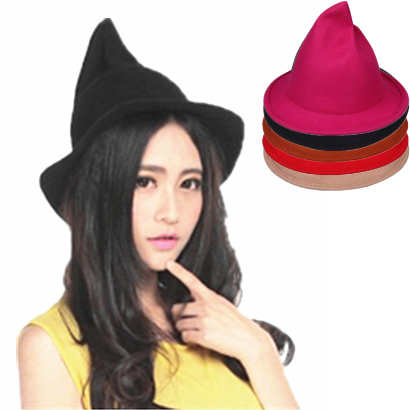 FANCYDAY 2016 Fedoras Hats for Women England Style Witch Top Hat 100%  Woolen Warm Felt Chapeu Feminino-in Fedoras from Apparel Accessories on  Aliexpress.com ... dd96563d816