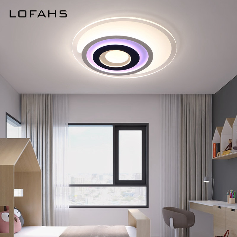 LOFAHS Modern LED ceiling lights for Child's room boy girl bedroom with remote control Father's eyes ceiling lamp fixtures noosion modern led ceiling lamp for bedroom room black and white color with crystal plafon techo iluminacion lustre de plafond