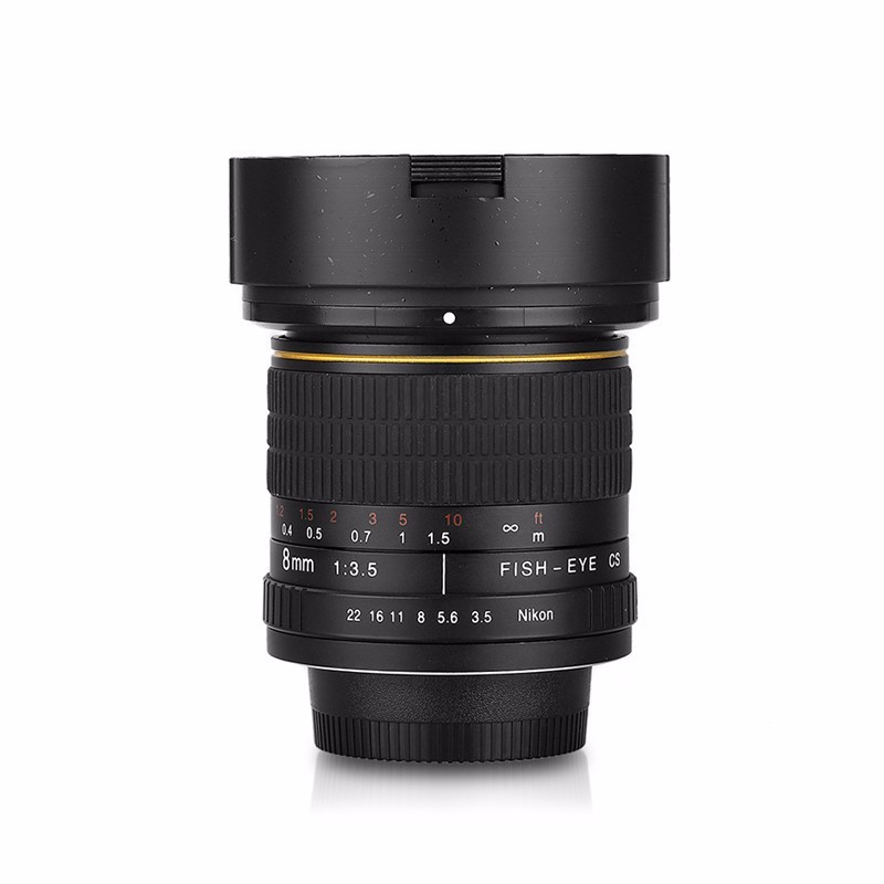 8mm F/3.5 Ultra Wide Angle Fisheye Lens for Nikon DSLR Cameras D3100 D30 D50 D5500 D7000 D70 D800 D700 D90 2