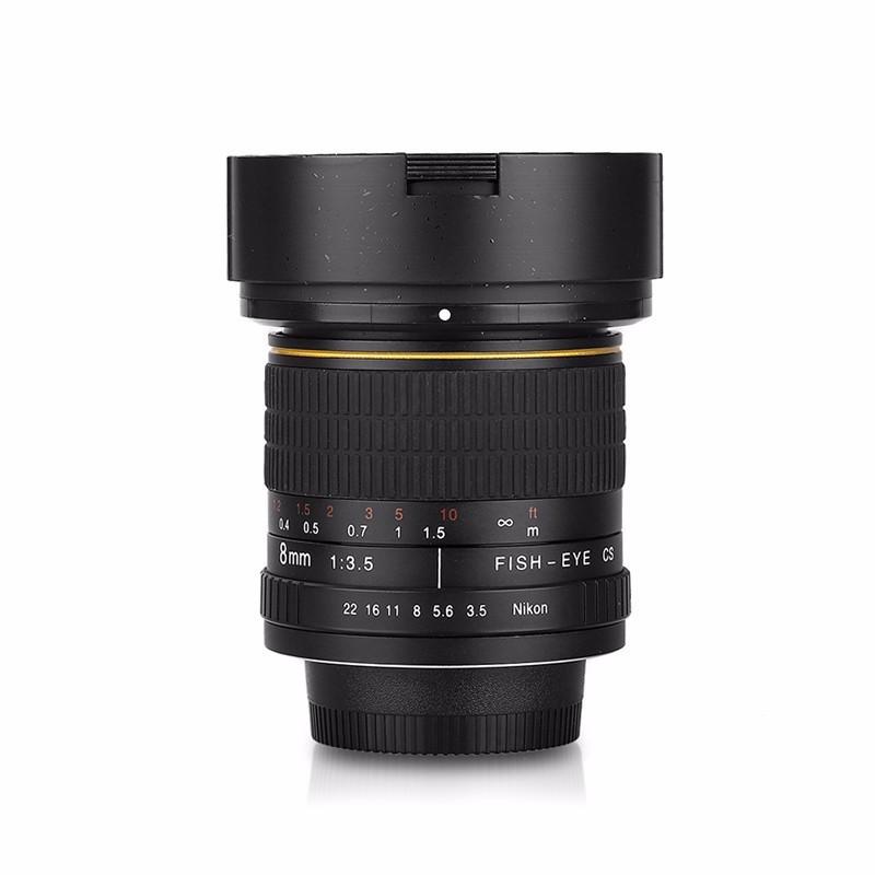 8mm F/3.5 Ultra Wide Angle Fisheye Lens for Nikon DSLR Cameras D3100 D30 D50 D5500 D7000 D70 D800 D700 D90 2