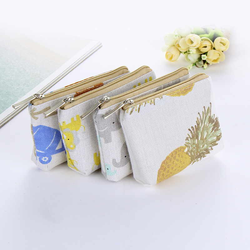 Cartoon Cute Kids Women's Purse Coin Money Pouch Sweet Small Wallet Pineapple Elephant Mini Zipper Pocket Pouch Coin Purse hempz sweet pineapple