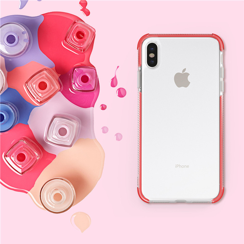 Colorful Soft Clear Case for Samsung Galaxy A6 Plus 2018 A9 star lite Silicone Case for Samsung S8 S9 Plus S10e Note 8 9 Cover in Fitted Cases from Cellphones Telecommunications