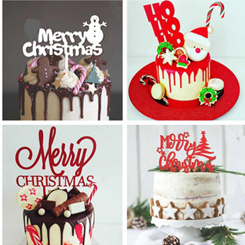 2019 New Merry Christmas Acrylic Cake Topper Ho Ho Ho