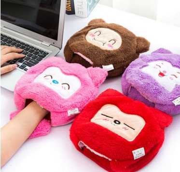 Cute cartoon Winter USB Hand Warm Mouse Pad Heated Mousepad Laptop Gaming Mousepadg and Washable