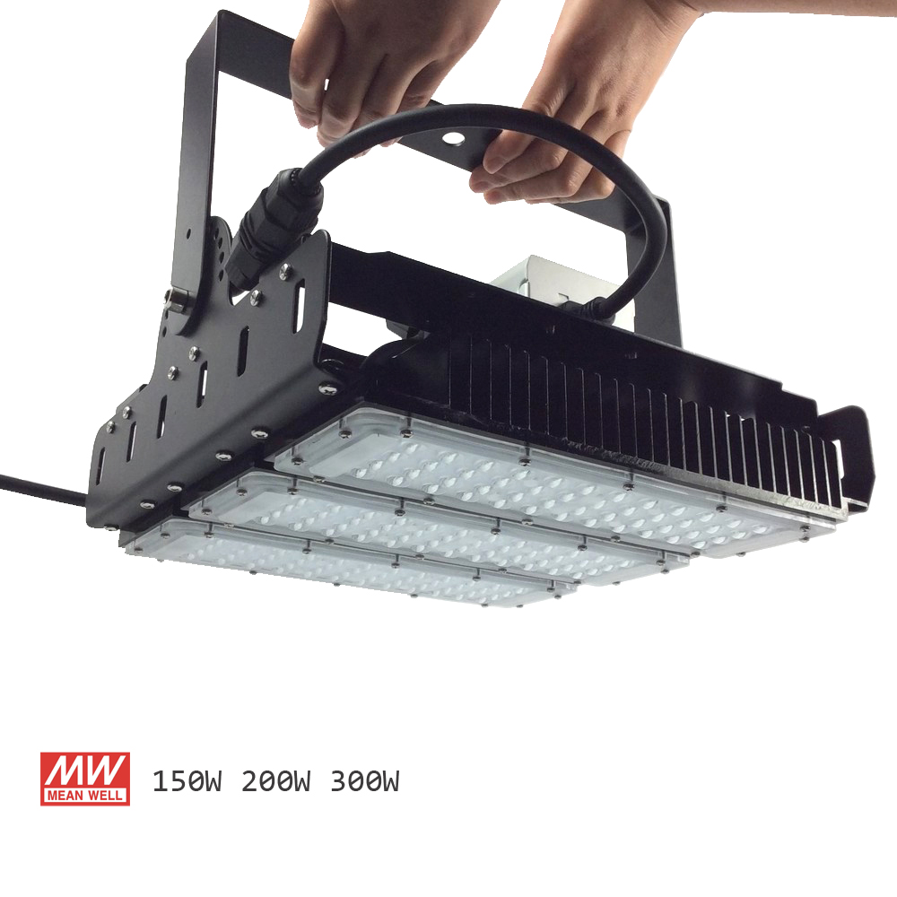 150W 200W 300W LED High Bay Lighting Luxeon SMD 3030 MeanWell For Driver With Mount Bracket Ultra Efficient 130 Lumens To Watts