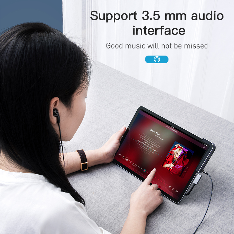 Купить с кэшбэком Baseus USB C HUB for iPad Pro Type C USB 3.0 HUB HDMI 3.5mm Jack PD Port USB Splitter Adapter USB Type-C HUB for MacBook Pro