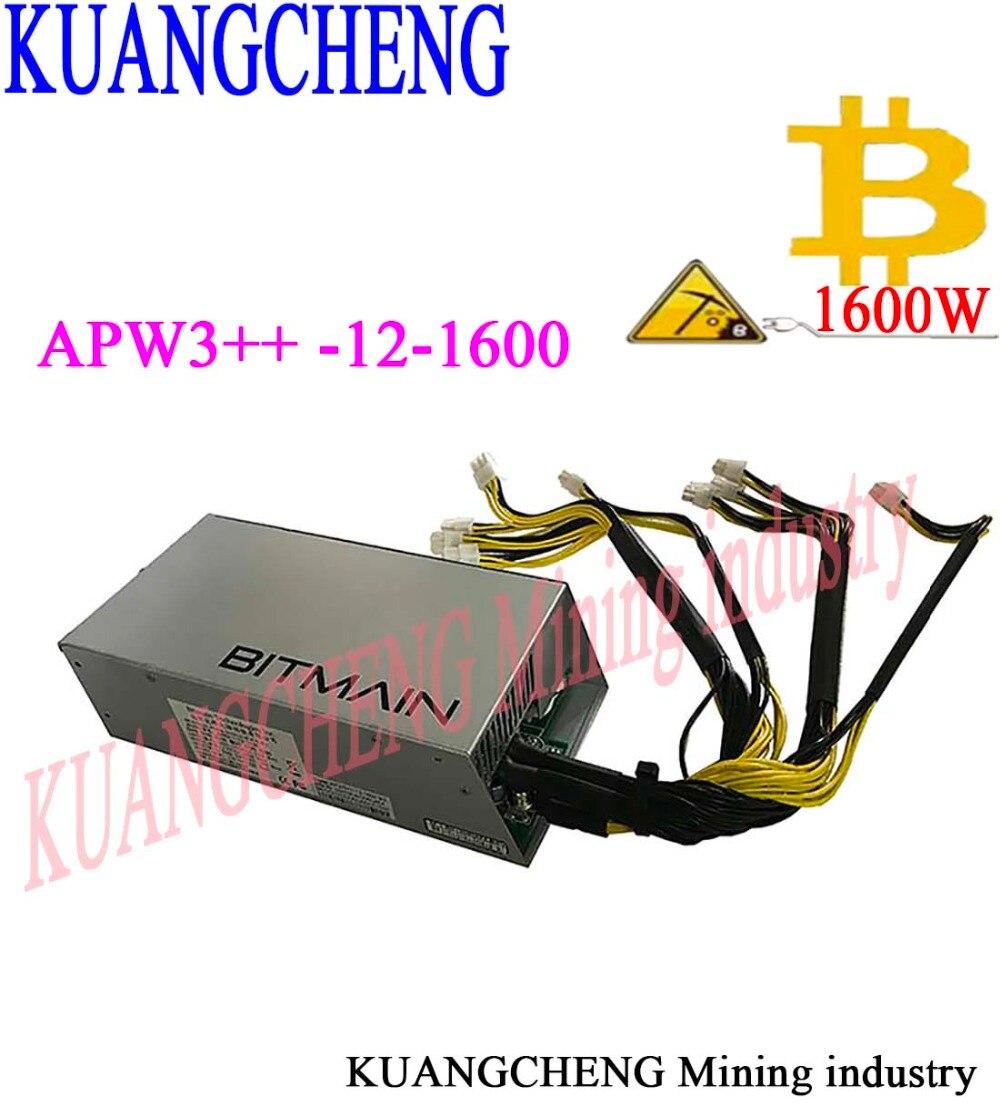 Kuangcheng antminer 1600 W S9/S7/S5/S4/S4 + 12 V alimentación bitmain APW3 + + para una S9 o L3 + o una D3