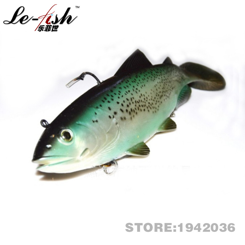 Hot! Le-Fish Free Shipping Soft Lead Fishing Lure Artificial Bait 300mm/372g Bait Fishing Lure For Spinning Deep Sea New Arrival
