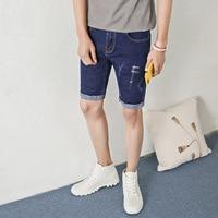 New Summer Men S Stretch Cotton Jeans Korean Elastic Straight Jeans Men S Fifth Pants 808