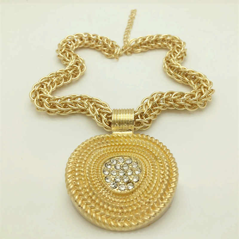 Kingdom Ma New Fashion afrykańska biżuteria ślubna zestaw ślubne złote kolorowy naszyjnik bransoletka kolczyki pierścionki zestawy