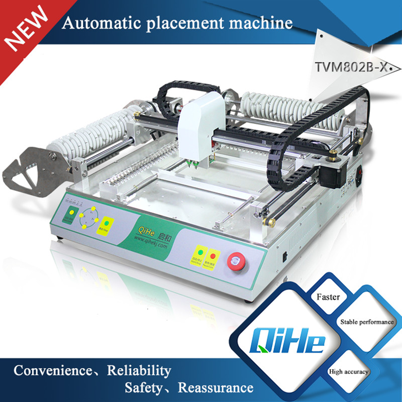 QIHE TVM802BX Automatic Led Assembly Machine Electronic Products Machinery Manual Pick and Place Machine