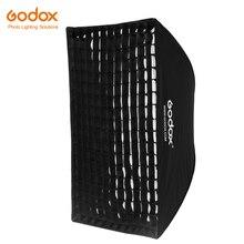 "Godox Portable 60 * 90cm 24"" * 35"" Rectangular Honeycomb Grid Umbrella Softbox Photo Softbox Reflector for Flash Speedlight"