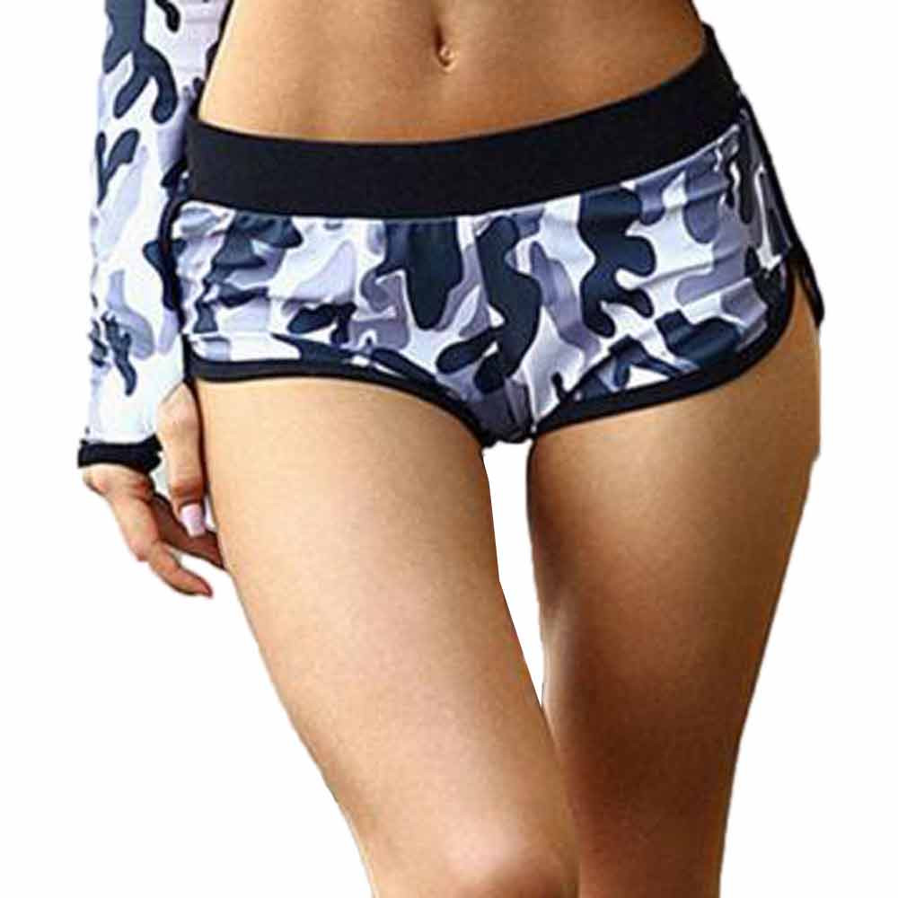 Nieuwe Dames Yoga Joggingbroek Vrouwen Camouflage Running Yoga Gym Fitness Sport Shorts Lage Taille Shorts Ademende Shorts