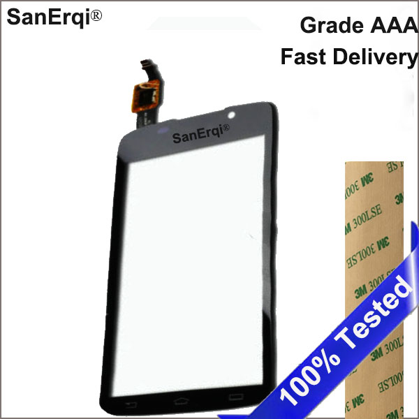 Touch Screen for Philips Xenium w832 sensor Mobile Phone glass display SanErqi 4.5 Black Front Panel With Free Sticker