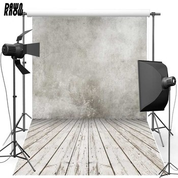 DAWNKNOW Vinyl Backdrops Vintage Concrete Light Grey Wall Polyester Wood Floor Photography Background For Photo Studio F716 vinyl photography backdrops wood floor children background computer printing backdrop for photo studio floor 010