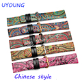 Chinese Style New Arrival PU Leather Iwatch Strap bands 23mm For Apple 38mm/42mm Watchband Currency Bracelet