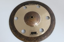"""Best popular 100% handmade EDGE series 10""""Effect Cymbal,hole cymbal for sale"""