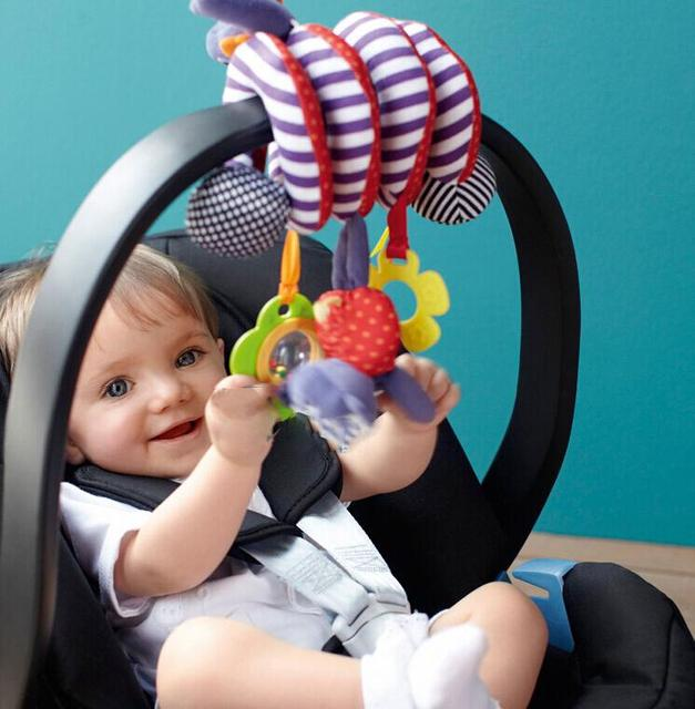 Cute Spiral Activity - Stroller Car Seat Cot Baby play Travel Toys Baby Rattles Baby bed hanging SV18 SV007215