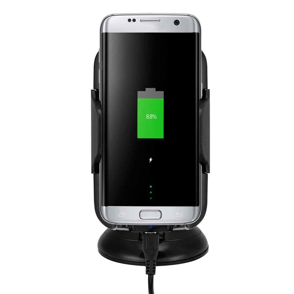 Adeeing Car Mount Wireless Charger, Fast Wireless Charging Vehicle Dock for Samsung Galaxy S7/ S7 Edge/ S7/ S6/ S6 Edge r30