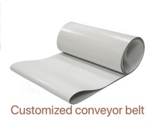 (Customized Conveyor belt ) 1000x200x3mm PVC White Transmission Conveyor Belt Industrial Belt high capacity movable belt conveyor pvc pu conveyor belt