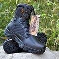 2017 Nuevos Zapatos De Bota Militar Del Desierto Táctico Militar Hombres Botas de Cuero Genuino Zapatos de Senderismo Swat Motocicletas Botas de Tobillo