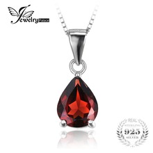 JewelryPalace Classic 2.2ct Natural stone Alluring Red Garnet 925 Sterling Silver Pendants For Women Fashion Without a Chain