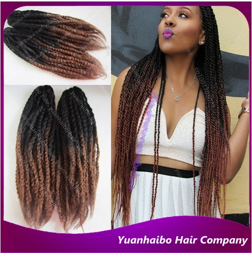 Stock 20 Cheap Price Black Brown Ombre Marley Twist Synthetic Hair