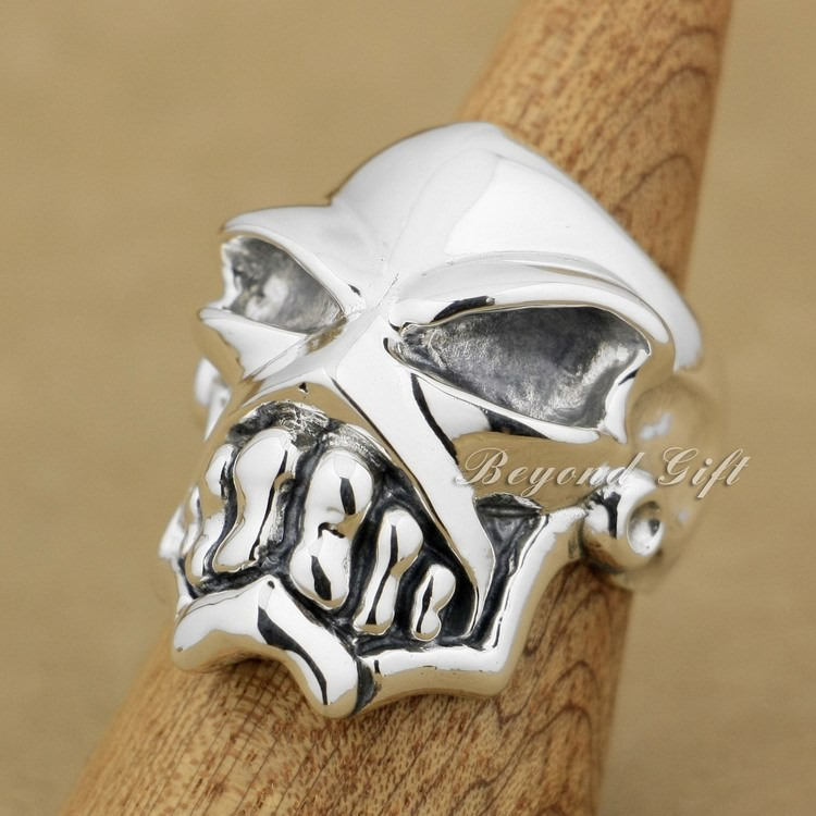 925 Sterling Silver Huge & Heavy Skull Mens Biker Rocker Ring 9Q010A925 Sterling Silver Huge & Heavy Skull Mens Biker Rocker Ring 9Q010A