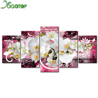 YOGOTOP DIY Diamond Painting Cross Stitch Kits Full Diamond Embroidery 5D Diamond Mosaic Home Decor Orchid