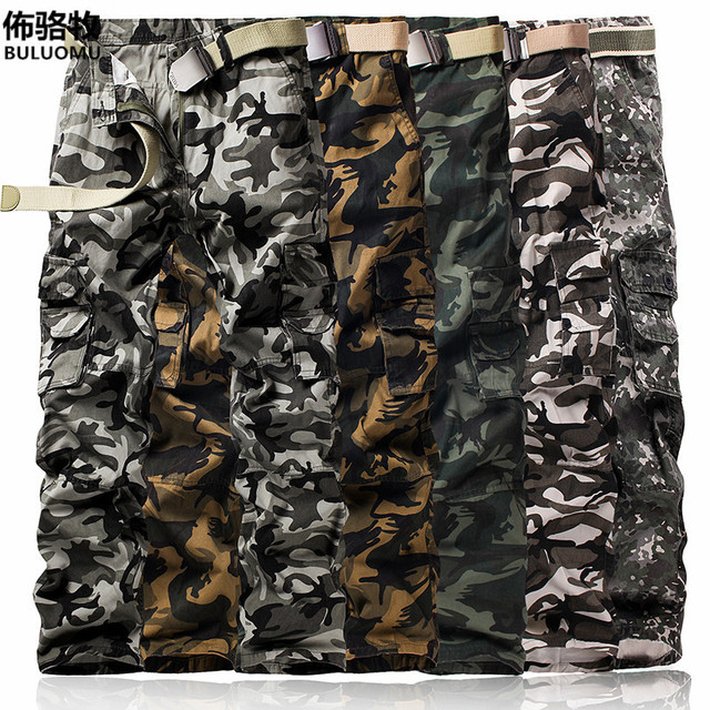 2016 new fashion men cargo men pants top quality cotton army military Style outwear tactical man Camo  trousers plus size 28-40