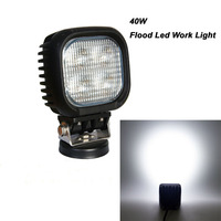 5 Inch 40 Watt CREE Flood 3500 Lumens LED Work Auxiliary Light For 12V 24V RZR