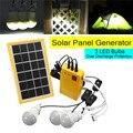 Kit generador de Panel de energía Solar con cargador USB de 5 V con 3 bombillas LED iluminación interior/exterior sobre descarga proteger