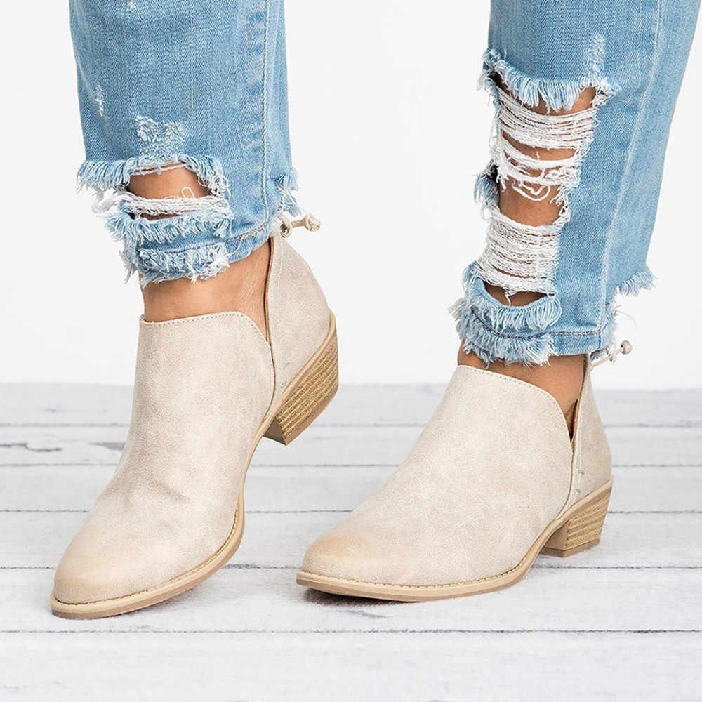 SAGACE; коллекция 2018 года; Женская Осенняя обувь; модные однотонные кожаные ботильоны martin; короткие ботинки для девочек; Прямая поставка
