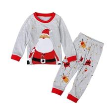 Рождественские детские пижамы, костюмы Санта-Клауса, детские пижамы, Детская одежда, Детские комплекты, весенне-осенний костюм
