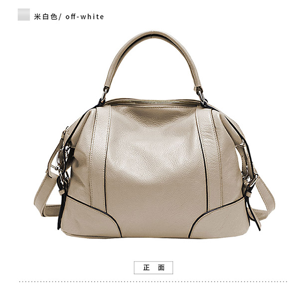 ФОТО New style women genuine leather handbags Simple leisure Large capacity solid color shoulder bags