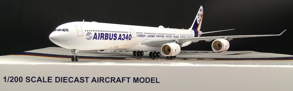 Fine JC wing 1: 200 Airbus A340-600 passenger model Original painting Alloy aircraft model F-WWCA Collection model Holiday gifts