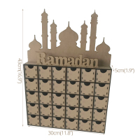 Ramadan Decorations DIY Wooden Drawer Boxes Eid Mubarak Wood Box Islamic EID Decor Ramadan Kareem Muslim Festival Party Supplies