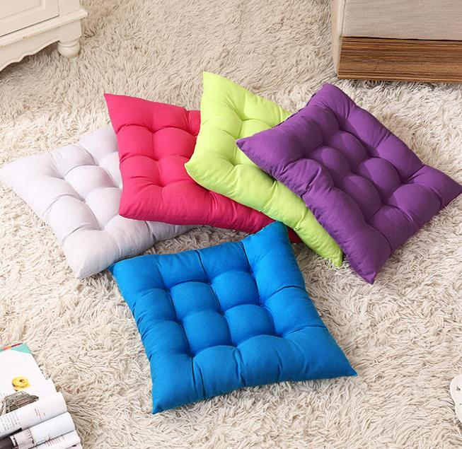 Large Floor Cotton Multicolor Choice Cushion Square Floor Pillow 40x40cm Chair Pad Cotton Sofa ...