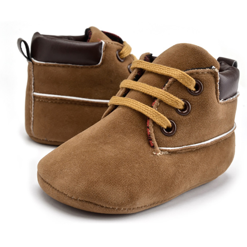 Newborn Baby Boys Girls Classic Handsome First Walkers PU Leather Shoes Baby Infant Toddler Soft Soles Boots For 0-18M