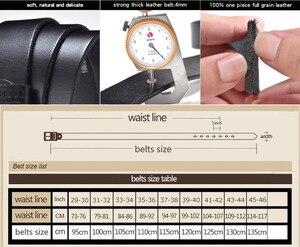 Image 5 - יוקרה חגורת גברים של חגורות הראשים אבזם איש של אמיתי עור רצועת עבור ז אן באיכות גבוהה רחב חום צבע אופנה JTC012