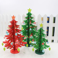 Artificial DIY Christmas Tree Cute Cartoon Table Ornament Toy 2017 Christmas Decorations For Home Desktop Decoration