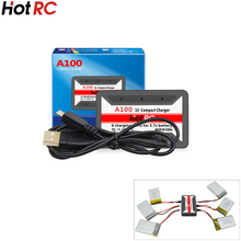 10pcs/lot HotRc A100 6 in 1 3.7V Lipo Battery Charg