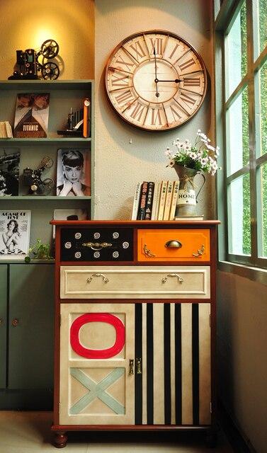 Französisch Land Europäischen Massivholz Möbel Retro Bekleidungsgeschäft  Café Bar Vitrine Eingang Schrank Gehäuse Kammern