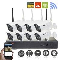8CH IP CCTV Kit Home Security Camera CCTV System Wireless HD 720P P2P IR Night Vision