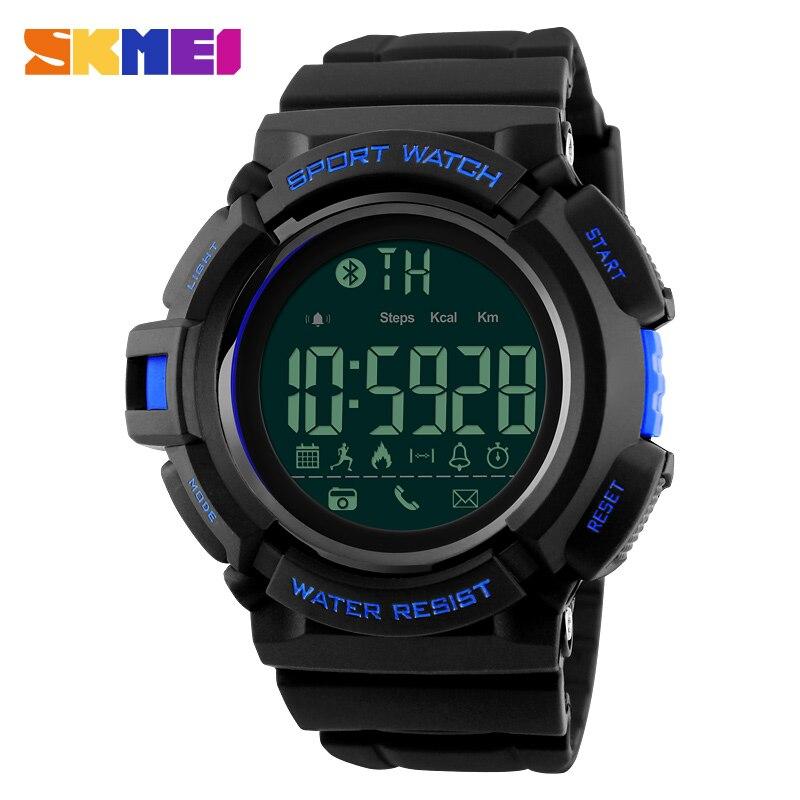 AnpassungsfäHig Skmei Silikon Digitale Uhr Für Männer Kalorien Zähler Smart Uhr Große Zifferblatt Bluetooth Outdoor Sport Fitness Elektronische Armbanduhr