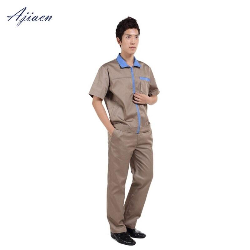 Ajiacn véritable un ensemble de protection contre les rayonnements électromagnétiques d'été à manches courtes vêtements de travail EMF protégeant les uniformes du personnel