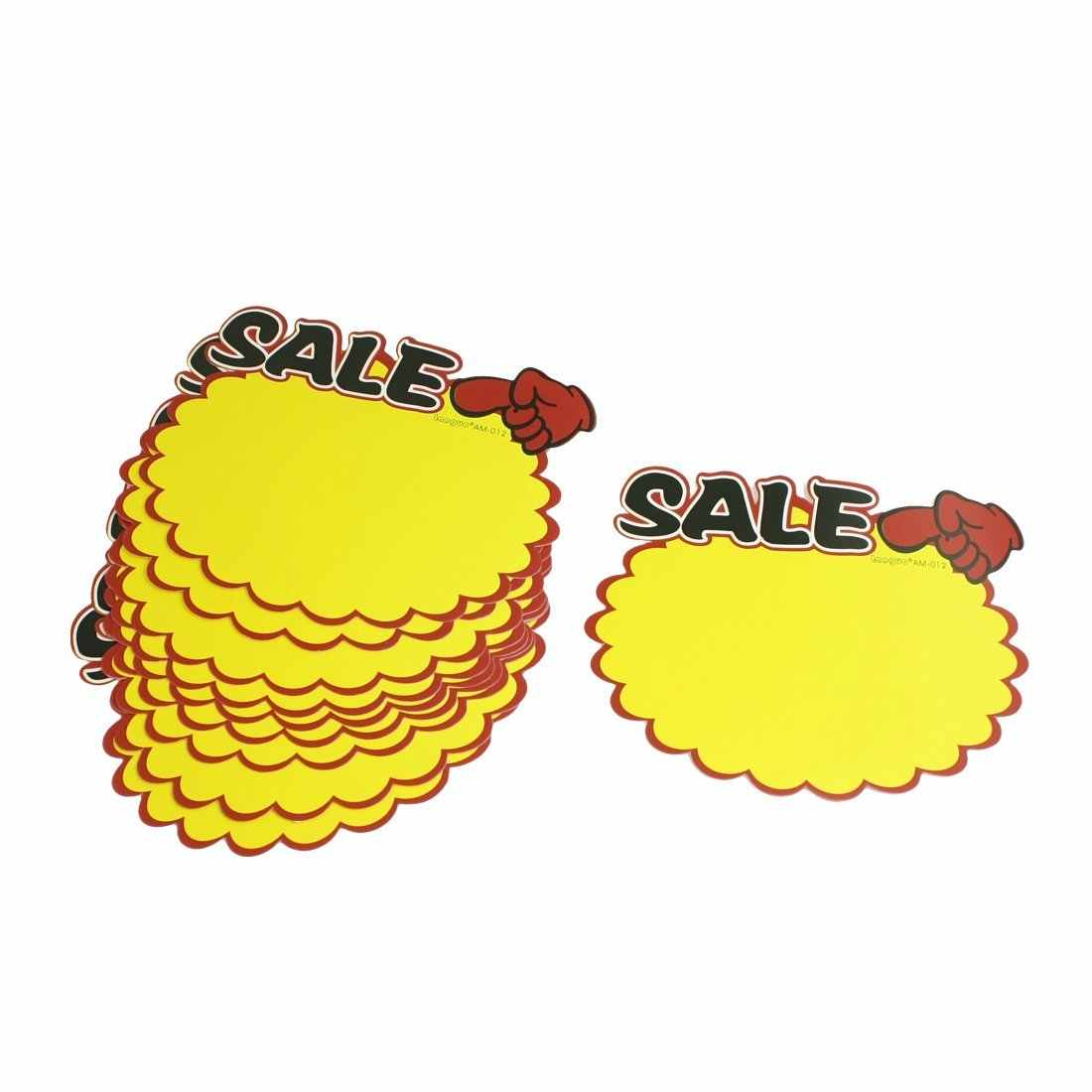Perfect-Supermarket Sale Promotion Advertising Sign Price Tags POP Paper 10 Pcs